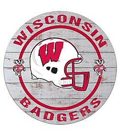 Kindred Hearts NCAA® Wisconsin Badgers Circle Sign