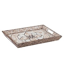 Dimond Shell Mosaic Serving Tray