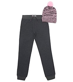 Lee Girls' 7-16 Jogger and Pom Hat Set