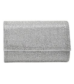 La Regale Crystal Small Flap Clutch