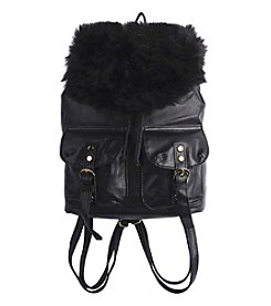 T-Shirt & Jeans Faux Fur Backpack