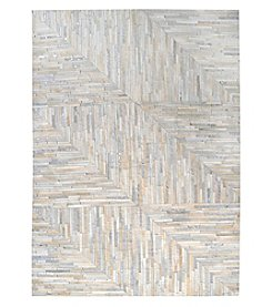 Dimond Karim Hand Stitched Leather Patchwork Rug
