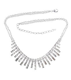 BT-Jeweled Baguette Rhinestone Collar Necklace