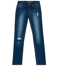 Lee Girls' 7-16 Skinny Jeans With Butterfly Back Pocket