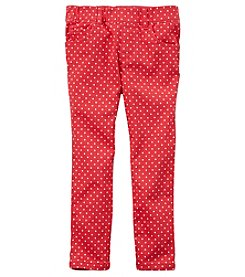 Carter's Girls' 2T-8 Dot Pull-On Twill Pants