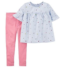 Carter's Girls' 4-8 Striped Top And Leggings Set