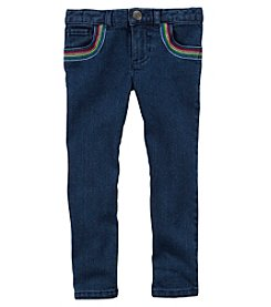 Carter's Girls' 4-8 Jeggings With Rainbow Pockets
