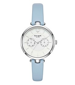 kate spade new york Women's Metro Blue Leather Strap Watch