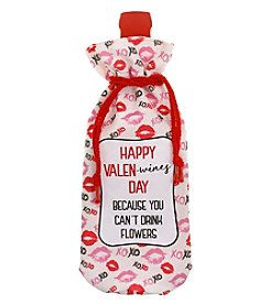 Erica Lyons Valentine's Day Kisses Wine Bag