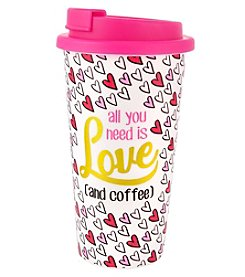 Erica Lyons All You Need Is Love And Coffee Valentines Day Traveler Tumbler