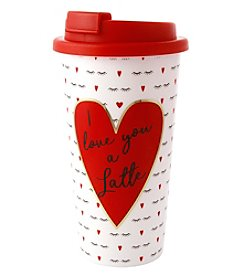 Erica Lyons I Love You A Latte Valentine's Day Traveler Tumbler