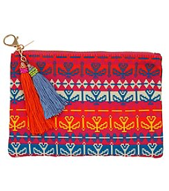 Erica Lyons Multi Flower Pouch Coin Purse