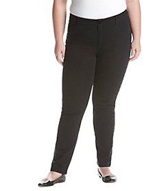 Jones New York Plus Size Black Wash Stud Detail Skinny Jeans
