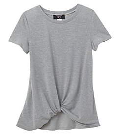 It's Our Time Girls' 7-16 Short Sleeve Twist Front Tee