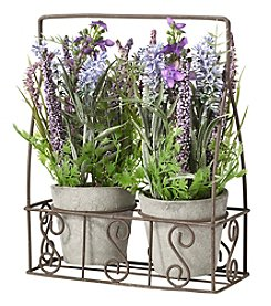 Living Quarters Flower Shop Lavender Basket Set