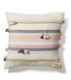 Ruff Hewn Stripe Dobby Tassle Decorative Pillow