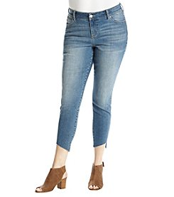 Celebrity Pink Plus Size Asymmetrical Hem Ankle Jeans