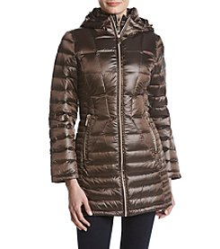 Calvin Klein Packable Quilted Bib Inset Down Coat