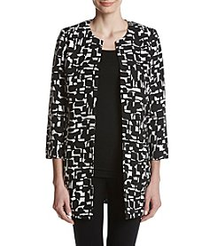 Kasper Abstract Pattern Topper Jacket
