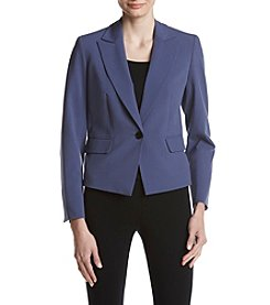 Nine West Single Button Closure Notch Collar Jacket