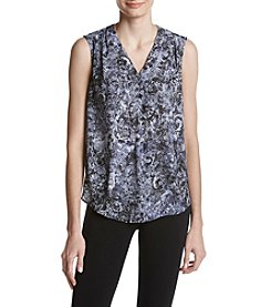Nine West Paisley Printed V-Neck Top