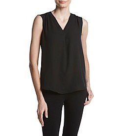 Nine West V-Neck Solid Top
