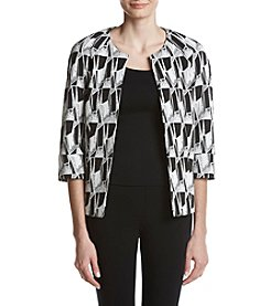 Kasper Casual Geometric Pattern Jacket