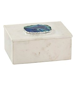 Dimond Marble and Blue Agate Box