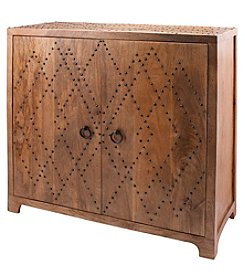 Dimond Plaid Nail Head Cabinet