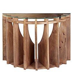 Dimond Wooden Sundial Console Table