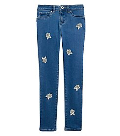 Jessica Simpson Girls' 7-16 Patch Kiss Me Skinny Jeans