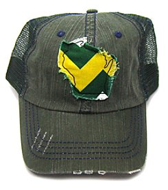 Gracie Designs Distressed Wisconsin Trucker Hat