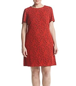 Calvin Klein Plus Size Abstract Pattern Dress