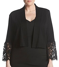 Calvin Klein Plus Size Lace Bell Sleeve Shrug