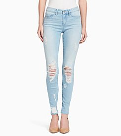 Jessica Simpson Kiss Me Distressed Super Skinny Jeans