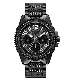 GUESS Men's Ionic Plate Jet Black Watch