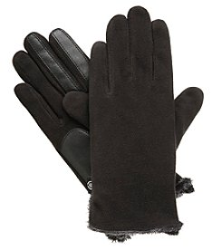 Isotoner Signature Women's Smartouch Faux Fur Lined Fleece Gloves
