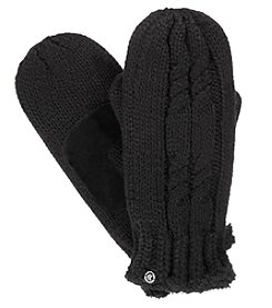 Isotoner Signature Women's Solid Cable Knit Mittens