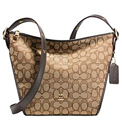 COACH SMALL DUFFLETTE IN SIGNATURE JACQUARD
