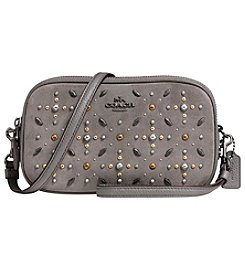 COACH SUEDE CROSSBODY CLUTCH WITH PRAIRIE RIVETS