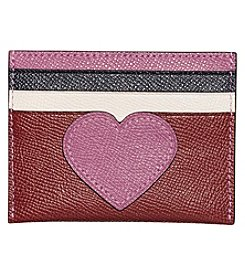 COACH Boxed Program Heart Colorblocked Flat Card Case