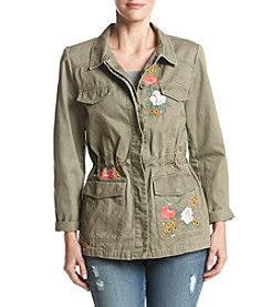 Ruff Hewn Floral Embroidered Detail Jacket
