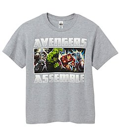 Marvel Heroes Boys' 8-20 Short Sleeve Marvel Charging Heroes Tee