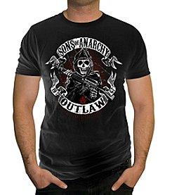 Men's Sons of Anarchy Outlaw Banner Graphic Tee
