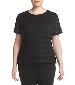Calvin Klein Plus Size Stretch Lace Top