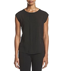 Calvin Klein Petites' Pleated Front Woven Blouse