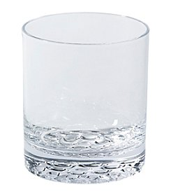 Living Quarters Clear Dot Bottom Acrylic Double Old Fashioned Glass