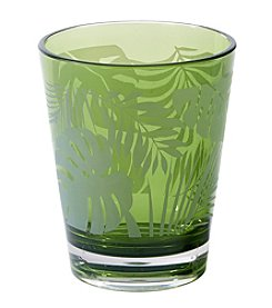 Living Quarters Green Palm Acrylic Double Old Fashioned Glass