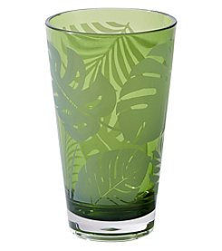 Living Quarters Green Palm Acrylic Highball Glass