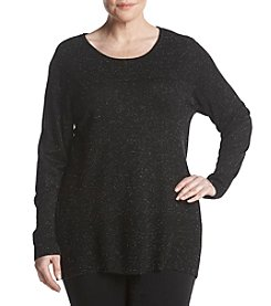AGB Plus Size Lurex Static Pattern Sweater